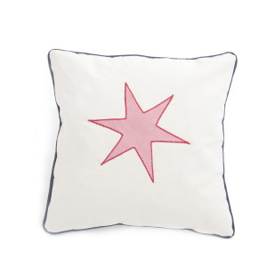 Pillow Canvas Navy Red