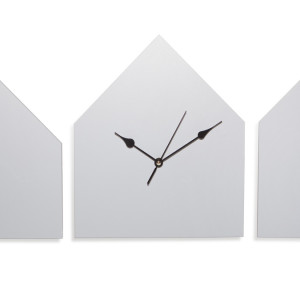 House Clock + Two Houses